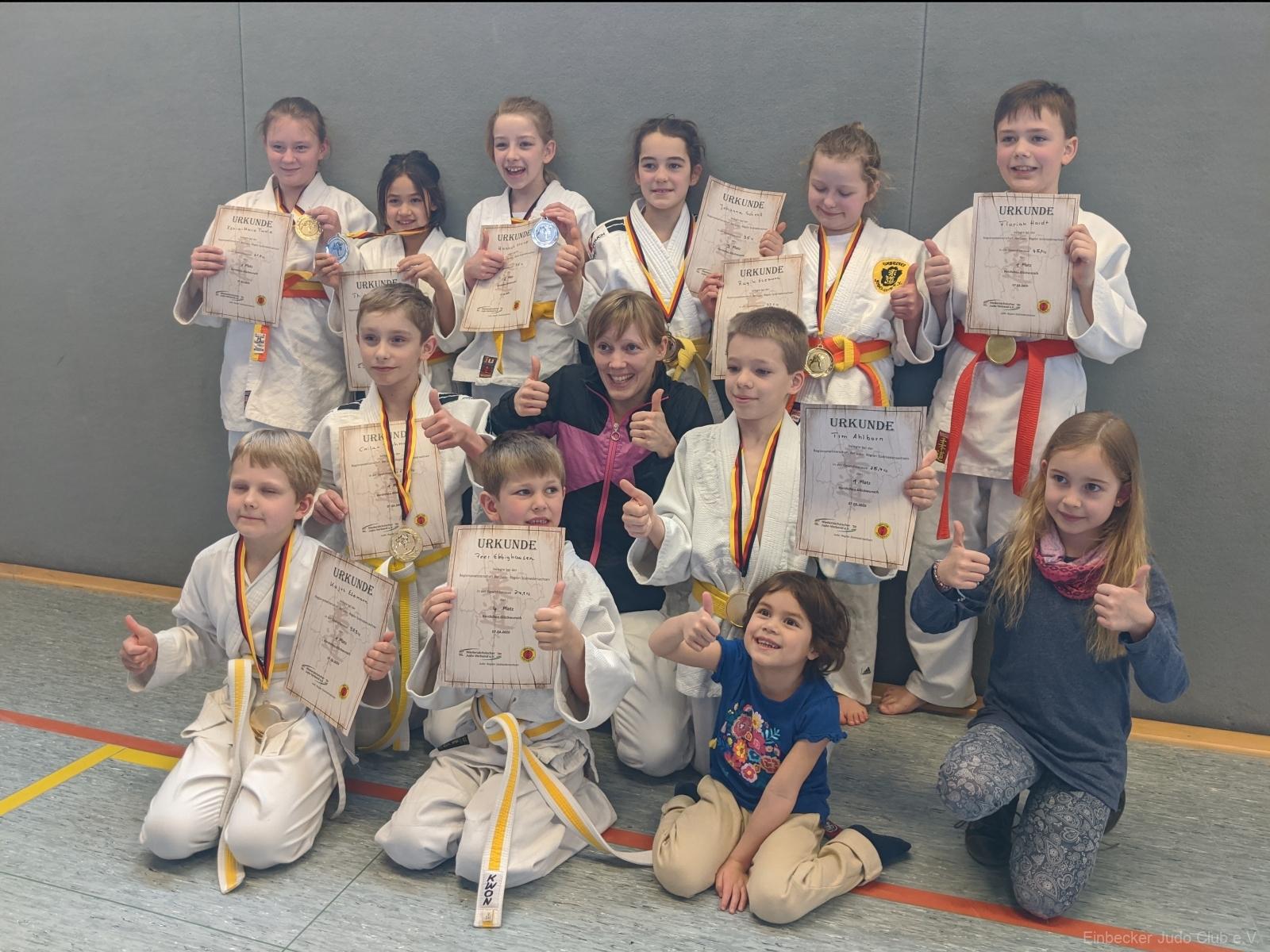 Medaillenregen bei der offenen Regionsmeisterschaft in Northeim